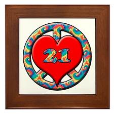 Unique Turning 21 Framed Tile