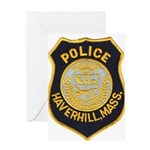 Haverhill Mass Police Greeting Card
