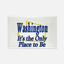 Only Place To Be - Washington Rectangle Magnet