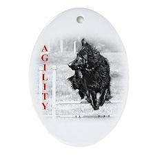 shepherd agility Ornament (Oval)