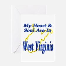 Heart & Soul - West Virginia Greeting Card