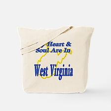 Heart & Soul - West Virginia Tote Bag