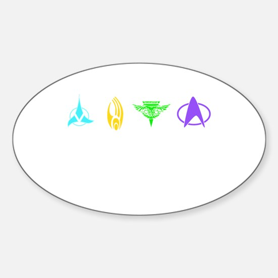 Klingon symbol Sticker (Oval)
