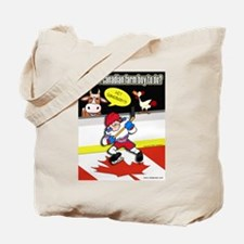 Hockey Farm Boy Tote Bag