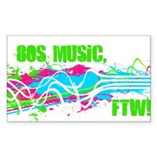 80s Music, FTW! Decal