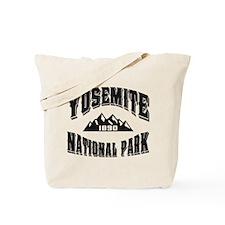 Yosemite Old Style Black Tote Bag