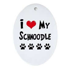 Schnoodle Ornament (Oval)