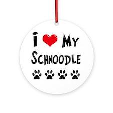 Schnoodle Ornament (Round)
