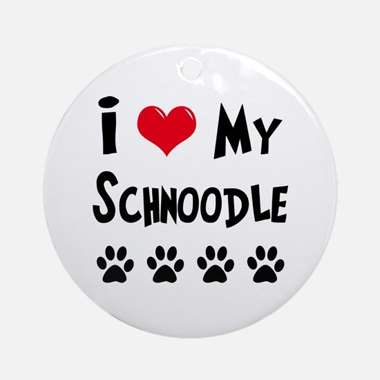 Schnoodle Ornament (Round)