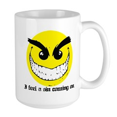 I Feel A Sin Coming On! Large Mug