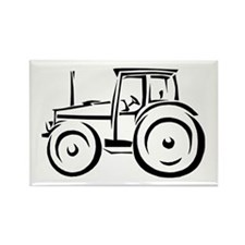 Farm Tractor Rectangle Magnet
