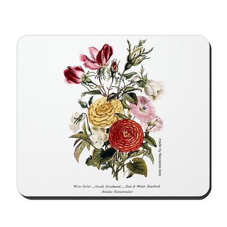 Violets & Rosebuds Mousepad