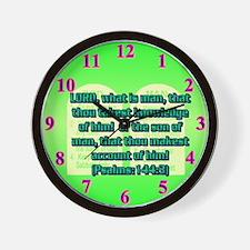 Psalm 144:3 Wall Clock