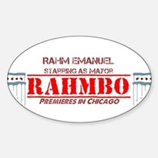 Cute Rahm emmanuel Sticker (Oval)