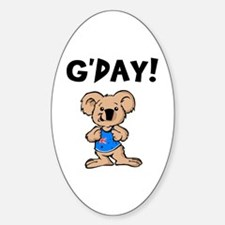 Australian Koala G'Day Sticker (Oval 10 pk)