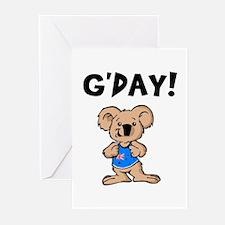 Australian Koala G'Day Greeting Cards (Pk of 20)