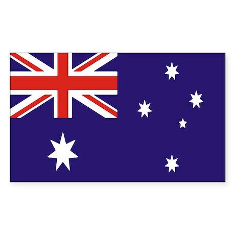 Australian Flag Sticker (Rectangle 10 pk)