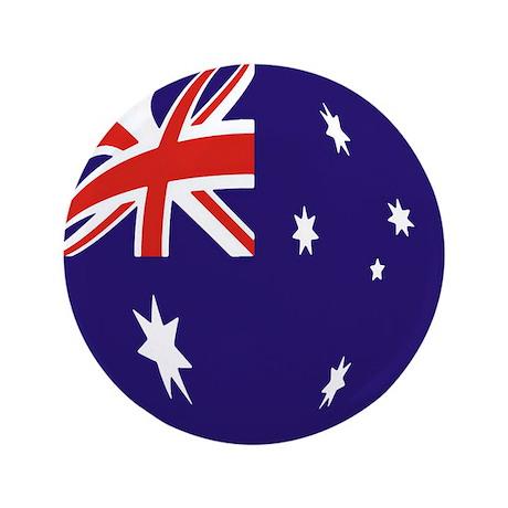 "Australian Flag 3.5"" Button (100 pack)"