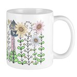 Folk Art Cottage Garden Mug