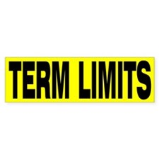 TERM LIMITS Car Sticker