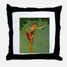 Vintage Fly Fishing Throw Pillow