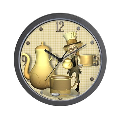 Mad Hatter Cafe Wall Clock