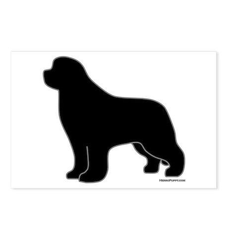 Newfoundland Dog Silhouette Gifts, Stationery, Address Labels ...
