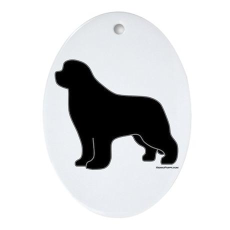 Newfoundland Silhouette Ornament (Oval)