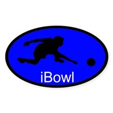 iBowl Blue Oval Decal