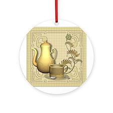 Coffee Break Time Ornament (Round)