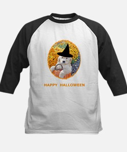 Halloween Funny Puppy Witch Kids Baseball Jersey