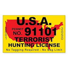 U.S.A. Terrorist Hunting License Decal