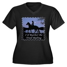 Moonlight Trail Riding Women's Plus Size V-Neck Da