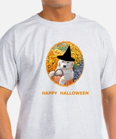 Halloween Funny Puppy Witch T-Shirt