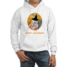 Halloween Funny Puppy Witch Hoodie