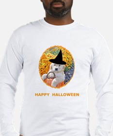 Halloween Funny Puppy Witch Long Sleeve T-Shirt