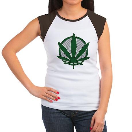 Classic Potleaf Women's Cap Sleeve T-Shirt