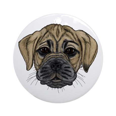 Fawn Puggle Ornament (Round)
