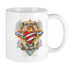 Juvenile Diabetes Cross & Hea Mug