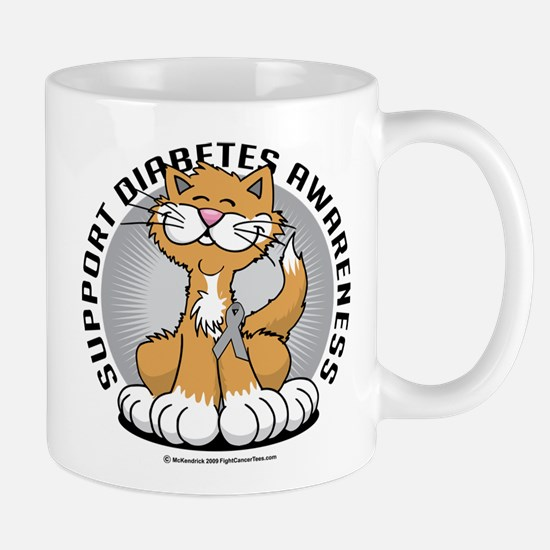 Diabetes Awareness Cat Mug