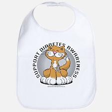Diabetes Awareness Cat Bib