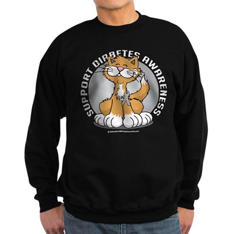 Diabetes Awareness Cat Sweatshirt (dark)