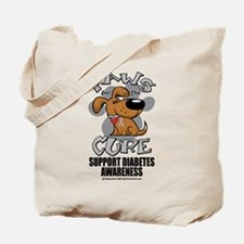 Diabetes Paws for the Cure Tote Bag