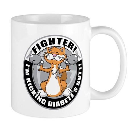 Diabetes Fighter Cat Mug