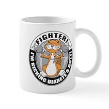 Diabetes Fighter Cat Mug