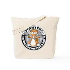 Diabetes Fighter Cat Tote Bag