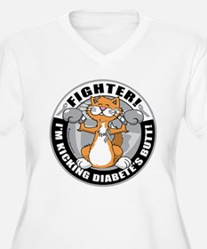 Diabetes Fighter Cat T-Shirt