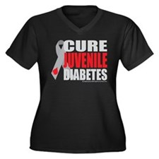 Cure Juvenile Diabetes Women's Plus Size V-Neck Da