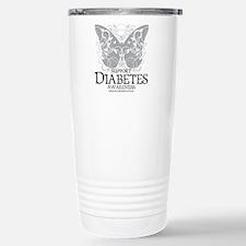 Diabetes Butterfly Stainless Steel Travel Mug