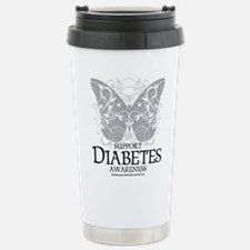 Diabetes Butterfly Travel Mug